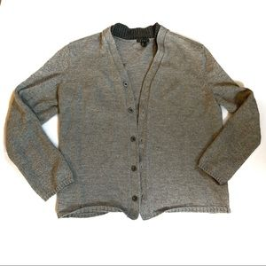 THEORY Donahld Cashwool Wool Grey Cardigan